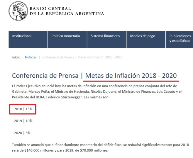 meta ibflacion